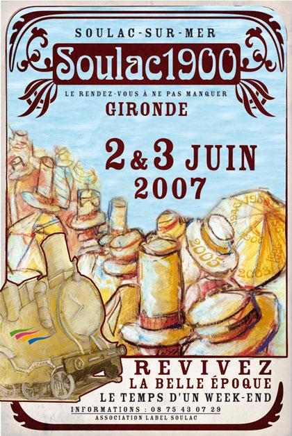 Soulac 1900 – Affiche Edition 2007