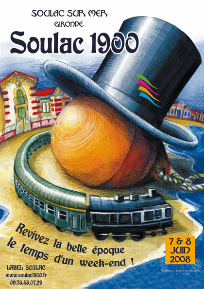 Soulac 1900 – Affiche Edition 2008