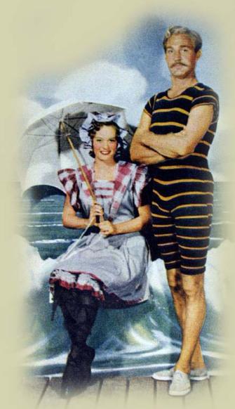 couple baigneurs 1900