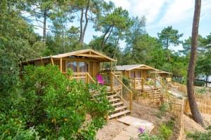 locatif SWEET FLOWER exterieur Camping des Pins SOULAC SUR MER